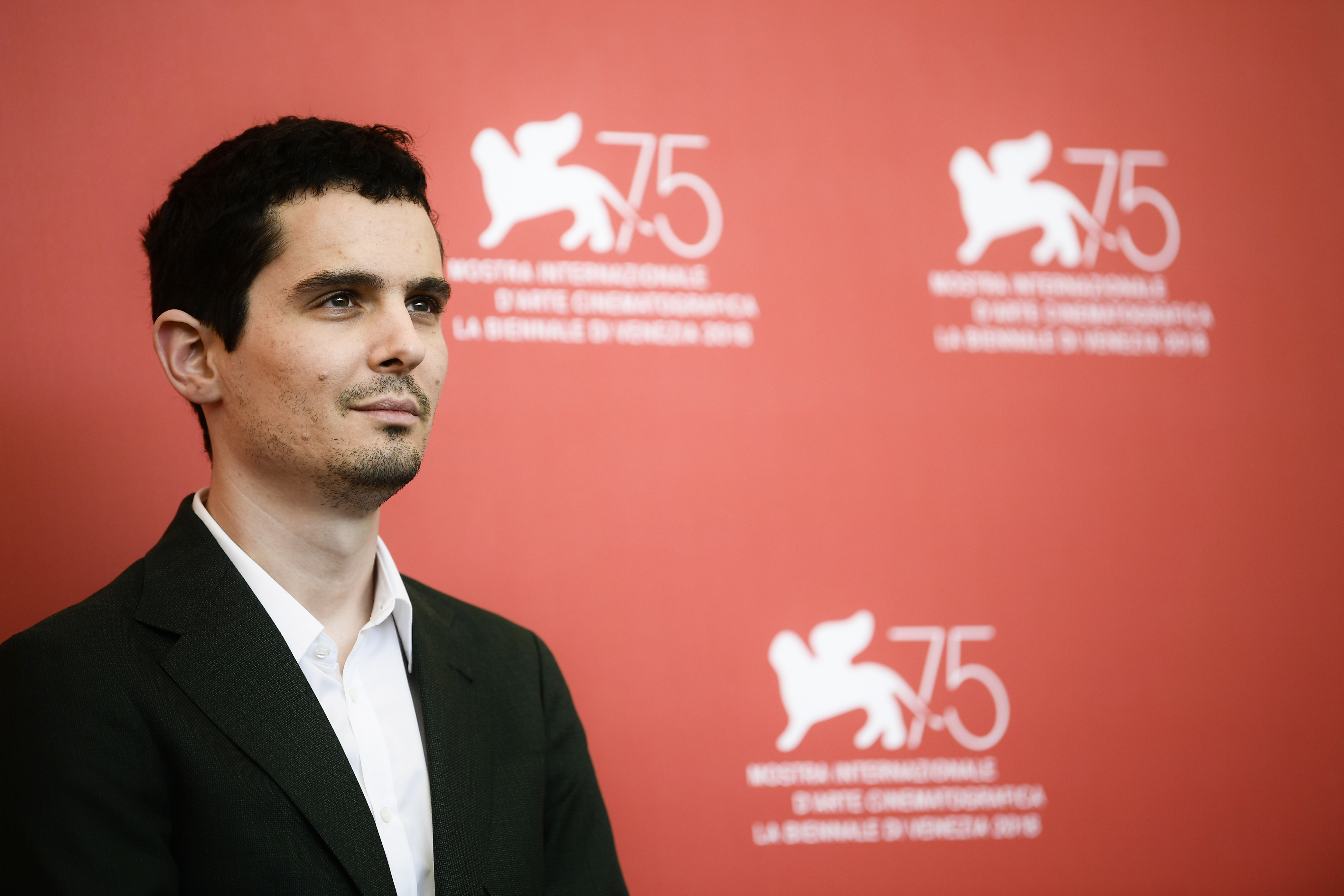 Director Damien Chazelle during a photocall for the film  First Man  on August 29, 2018 prior to its premiere in competition at the 75th Venice Film Festival at Venice Lido.