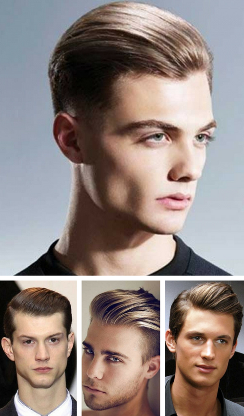 Sleek combed back hair