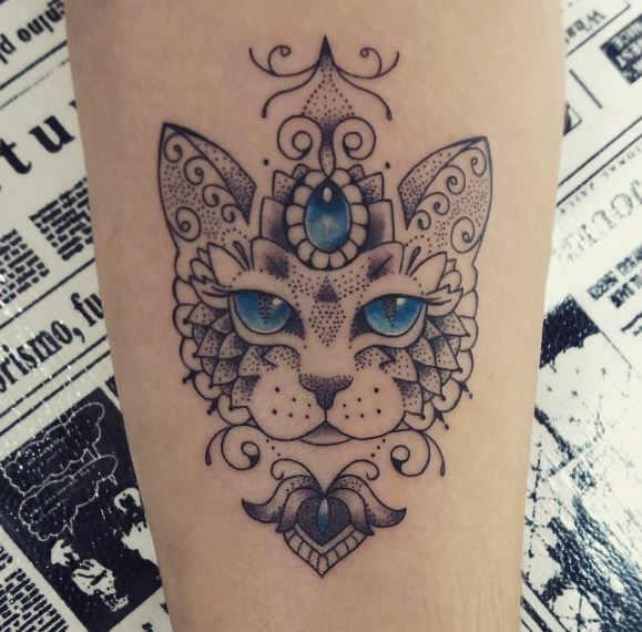 Cat Tattoos Designs For Girls