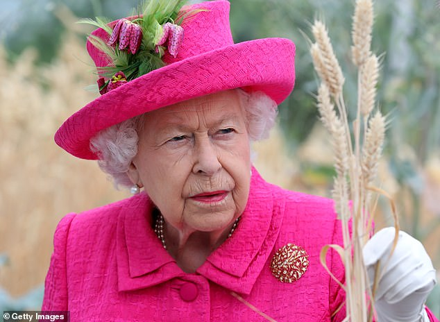 Informative tour: The Queen viewed an exhibition celebrating 100 years of crop research