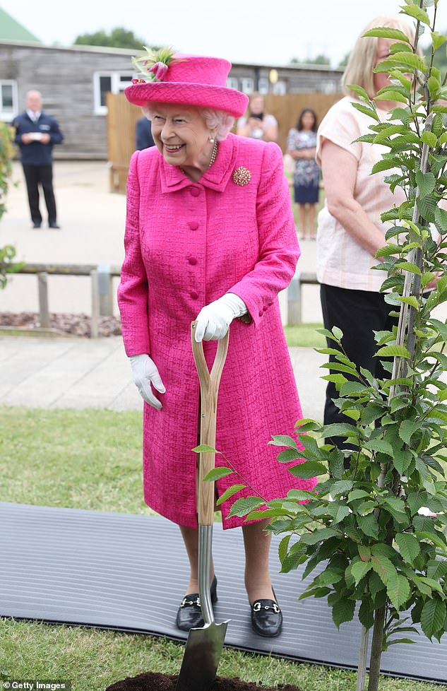 Defiant: When asked whether she would perform the task on her own, the Queen replied: