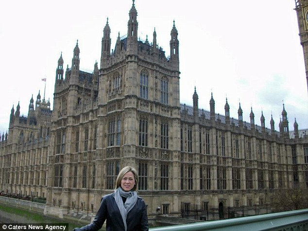 In the meantime the mother-of-one, who had a partial mastectomy last year, has been ticking a number of other things off her bucket list, including traveling around the world (above at Westminster Abbey, London)