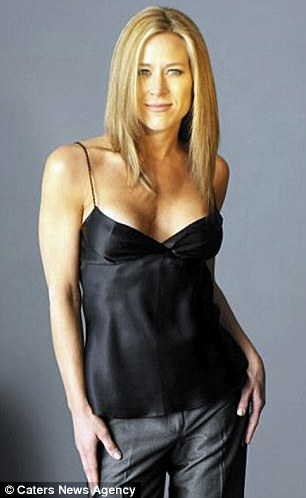 Mirror image: Jennifer pictured when she started Jennifer Aniston lookalike work in 2006 at 36
