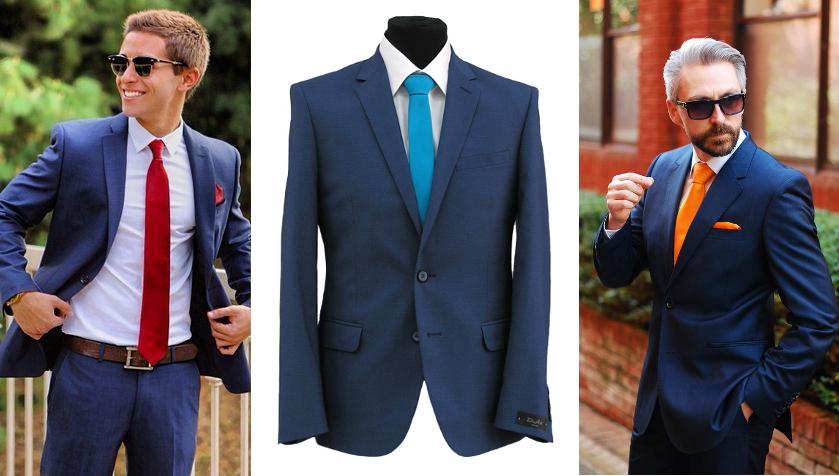 розовая рубашка и синий галстук