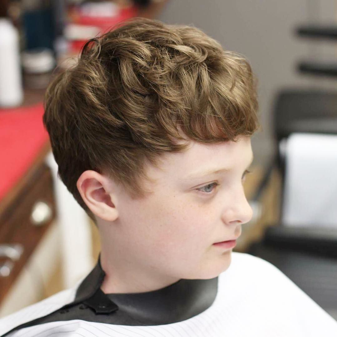 Curly hairstyle for boys