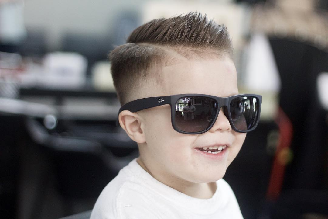 Side part haircut for boys
