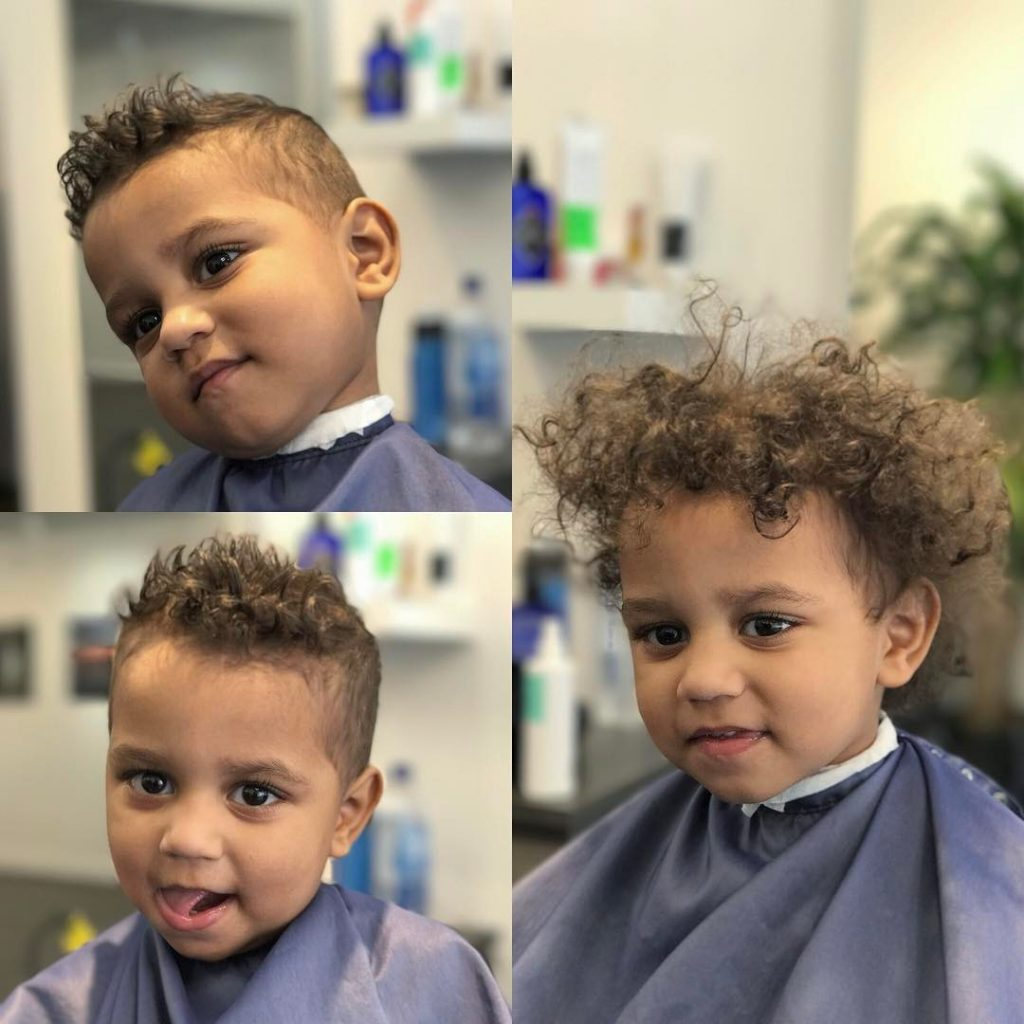 Curly hair toddler boy haircut
