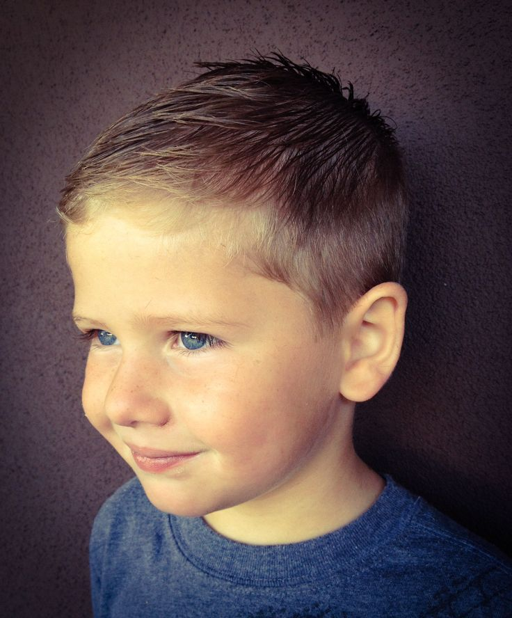 Textured fringe haircut for toddler boys