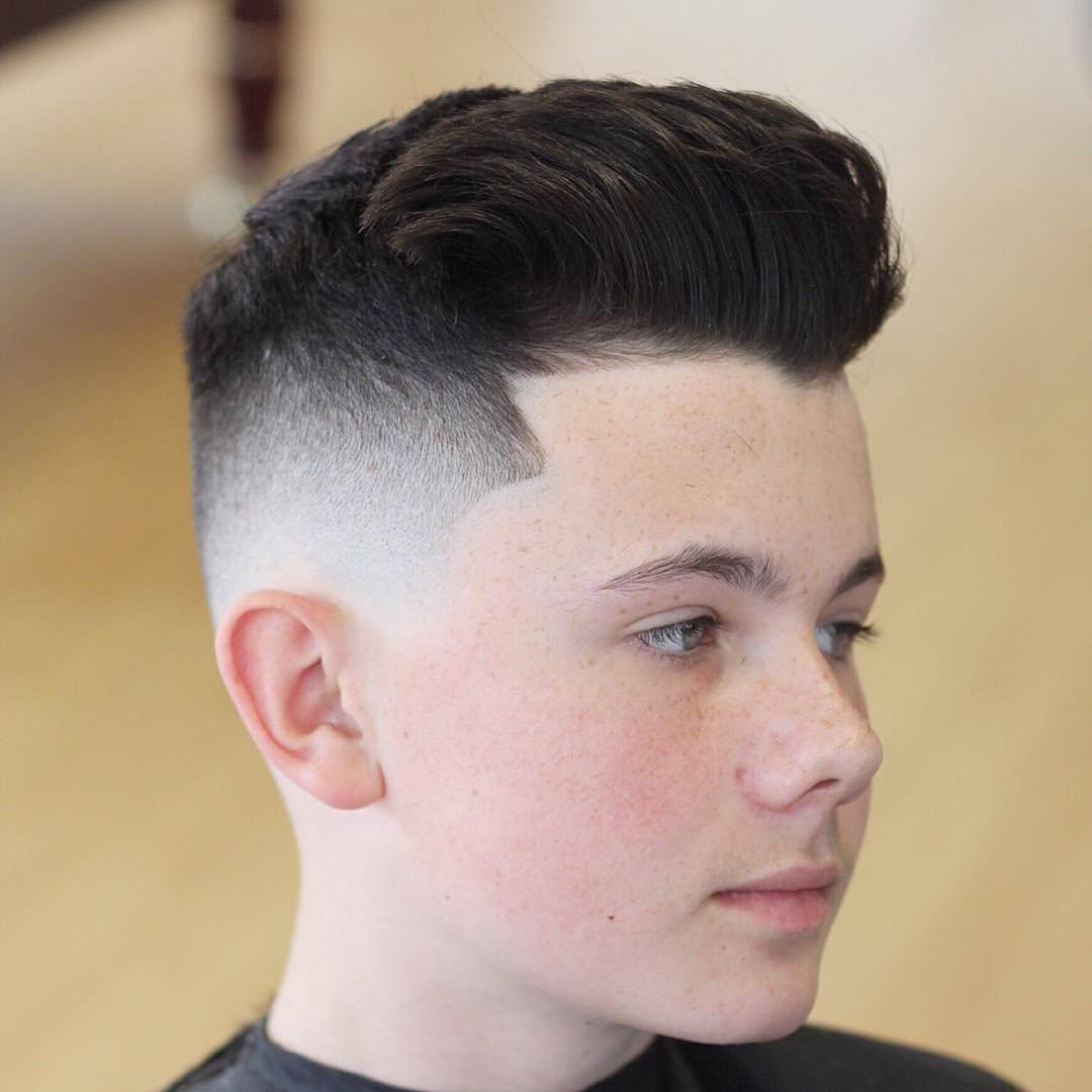 Quiff haircut for boys