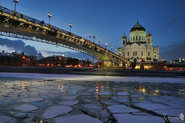 Winter Twilight over Christ the Savior Cathedral & Patriarchy Bridge