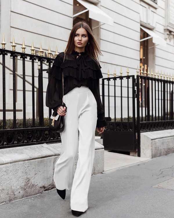 4e841ddf0f13 Брюки мода осень 2019 – Модные брюки осень-зима 2019-2020 ...