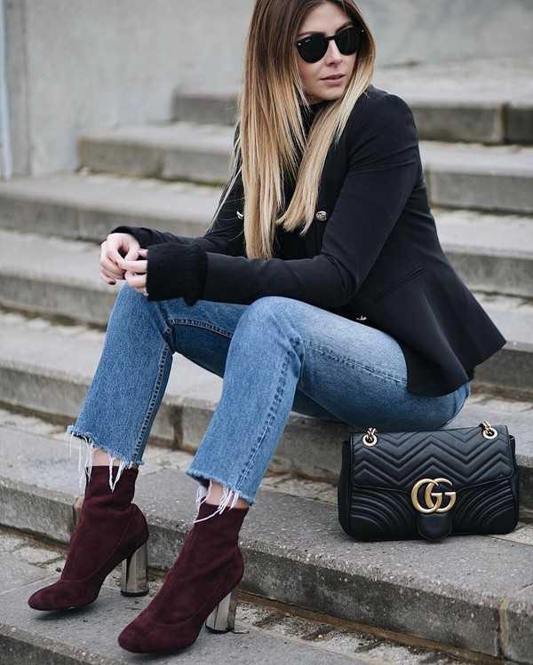7c231544b Ведь вариантов с чем носить модные джинсы осенью и зимой очень много. В  составлении удачного осенне-зимнего лука с джинсами играет роль и образ  жизни, ...