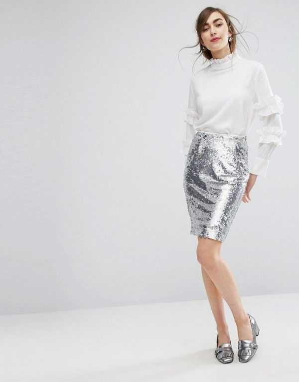 aaffab11ea9049f Золотистые, серебряные, черные и даже цветные юбки с пайетками дополнят  вечерний образ и выразят в ...