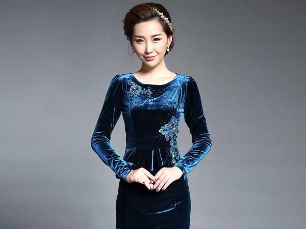 d06fc617f2d0e1f Платье велюровое – модные фасоны, цвета, 277 фото, мода полным ...