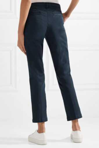 59dad181c4b0 Синие укороченные брюки – с чем носить, с какой обувью и какие ...